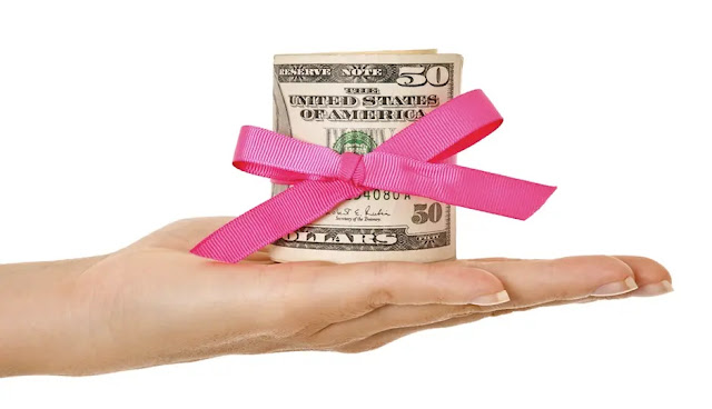 6) Ask for monetary gifts: