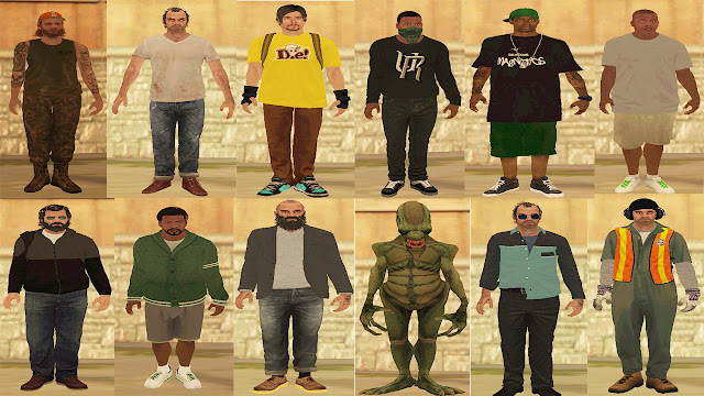 GTA 5 Characters Skin Pack For GTA San Andreas Download