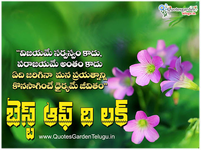 Wish you all the best Telugu Quotes garden wishes images