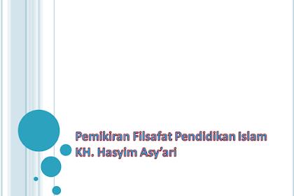 Pemikiran Filsafat Pendidikan Islam KH. Hasyim Asy'ari PPT