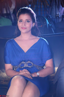 Mannara Chopra in Short Blue Dress at Rogue Movie Teaser Launch 1st March 2017 032.JPG