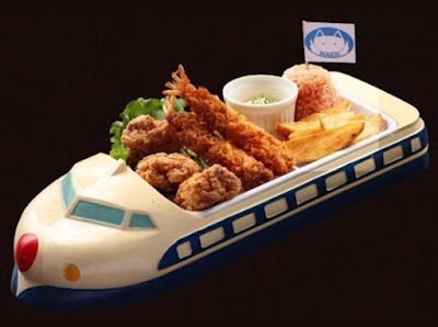 Blue Shinkansen Kid's Lunch Tray