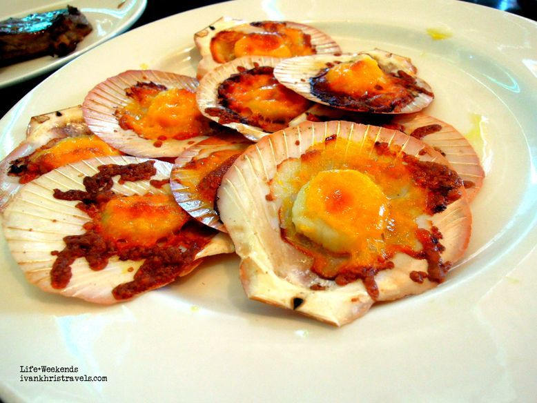 Baked scallops at New World Hotel's Cafe 1228