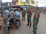 Danramil 01/Gs Laksanakan Operasi Penegakan Disiplin Protkes di Pusat Keramaian Kota Gunungsitoli