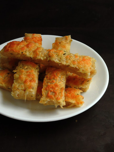 Garlic Butter Bread Sticks, Eggless Bread Sticks