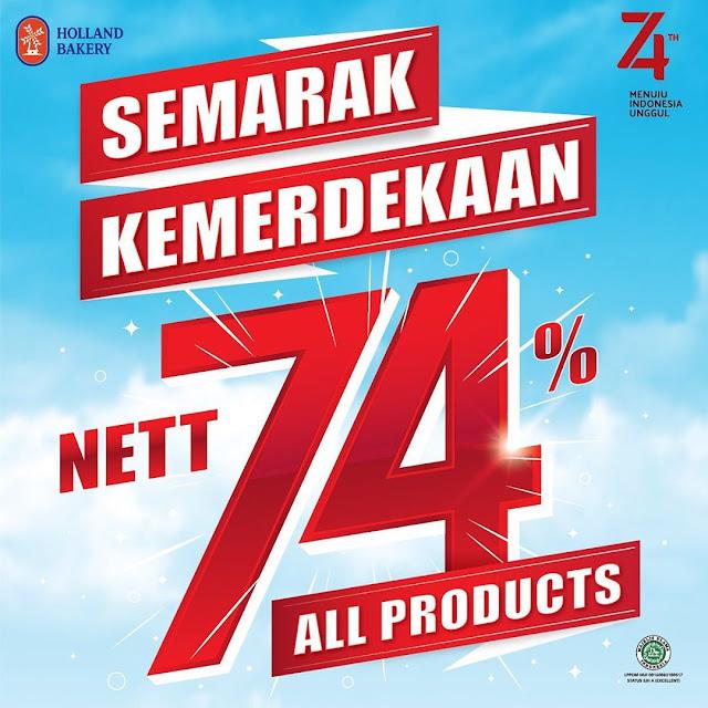 #HollandBakery - #Promo Diskon 26% Seluruh Produk di HUT RI ke 74 (17 Agustus 2019)