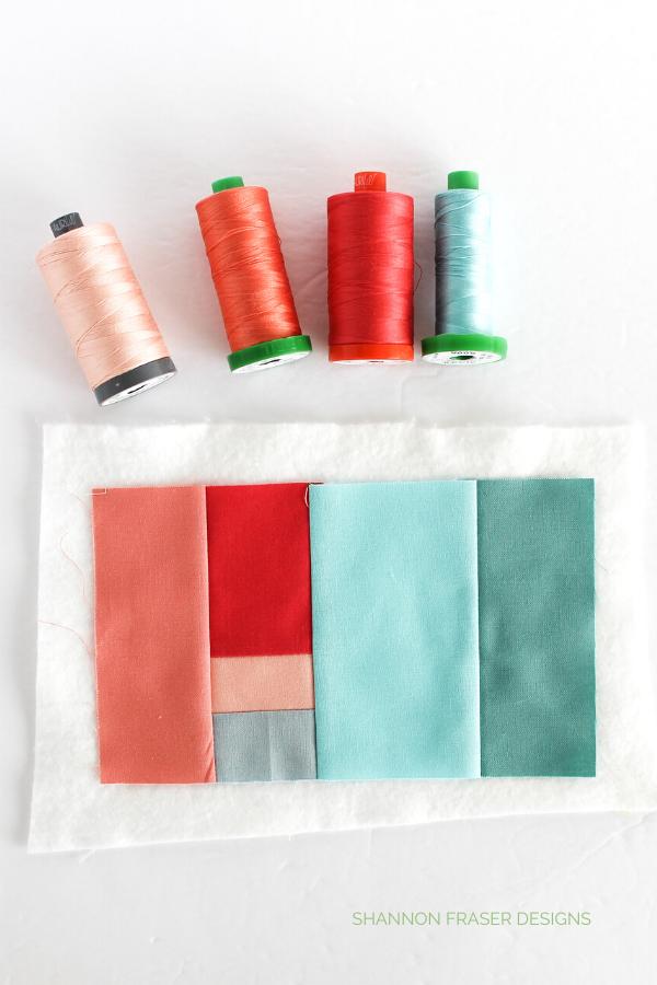 Aurifil Thread featured in modern improv pin cushion   Sew Organized Pin Cushion   January Aurifil Artisan Challenge   Shannon Fraser Designs #pincushion #sewingnotions #aurifilthread #moderquilting