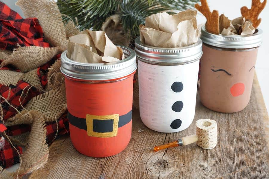 Christmas Mason Jars by Happiest Camper