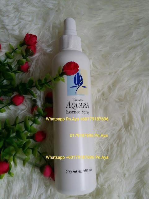 AQUARA ESSENCE SPRAY yang boleh menjadikan solekan anda tahan lebih lama (sembur sebelum atau selepas solekan). Sesiapa yang ada masalah resdung , mudah mengantuk boleh cuba produk ini. Ia juga dapat membantu melembapkan kulit yang kering, menyeimbangkan kulit dan mengurangkan kesan dedahan kulit pada pencemaran sekeliling dan sinaran UV  Kelebihan-kelebihan Aquara : *Melembapkan kulit yang kering *Menyeimbangkan kulit *Mengurangkan kesan dedahan kulit pada pencemaran sekeliling dan sinaran UV *Memberikan kelembutan pada kulit wajah *Mengurangkan rasa mengantuk *Membantu memulihkan resdung *Menjadikan solekan lebih tahan lama (sembur sebelum dan selepas solekan) *Mencantikan solekan * Membantu menyeimbangkan warna kulit muka *Memberikan kelembutan dan kebersihan pada kulit serta menambahkan kelembapan agar kulit sentiasa segar dan bersih sepanjang hari  Dapatkan Aquara Essance Spray Keluaran Giffarine Yang Berfungsi Sebagai Penyegar Muka Dan Ia Mampu Untuk Mengunci Solekan Anda Serta Sesuai Digunakan Pada Bila-Bila Masa.  HARGA: 1 BOTOL RM18 (+ CAJ POSLAJU RM6 S/M..RM9 S/S) WHATSAPP 0179187696