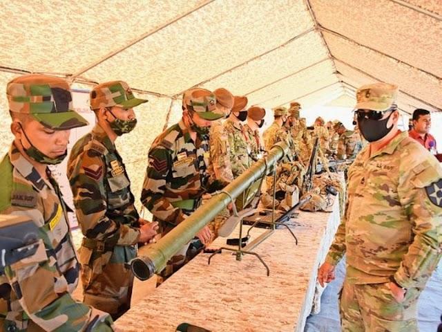 भारत-अमेरिका सेना के बीच शुरू हुआ संयुक्त युद्धाभ्यास:गाेलियाें की आवाज व टैंकों की गर्जना से गूंज उठी महाजन रेंज