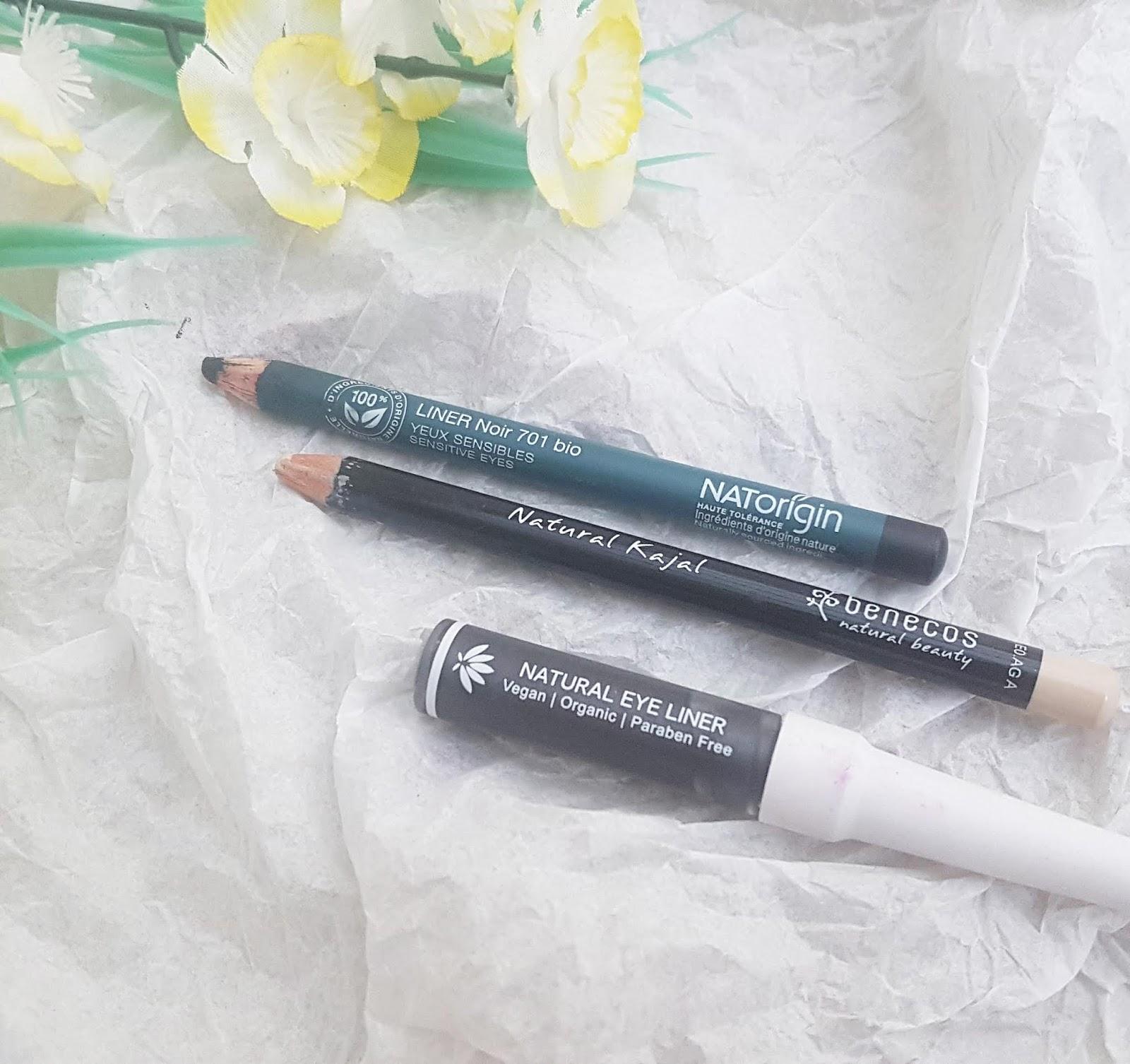 NatOrigin eyeliner, Benecos Kajal, PHB liquid eyeliner - Best Makeup of 2019