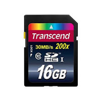 Transcend 16GB SDHC Class 10 Secure Digital Memory Card Up to 30MB/s TS16GSDHC10