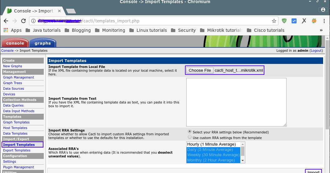 Cara Install Host Template Mikrotik Pada Cacti - Venturaz Blog | GNU ...