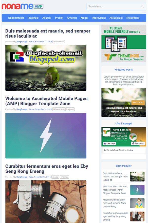 download noname blogger template slim fast load