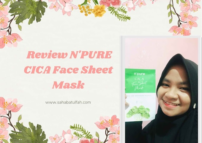 Review N'PURE CICA Face Sheet Mask