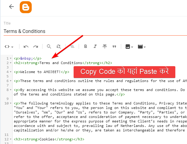 paste-terms-and-conditions-text-code-in-blogger-blog-page-editor