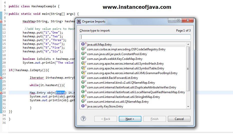 import all missing packages once java program