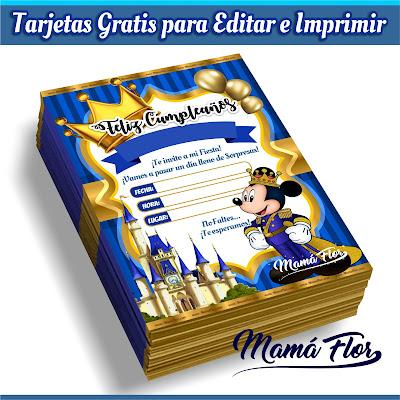 Tarjeta de Cumpleaños de Mickey Mouse Rey