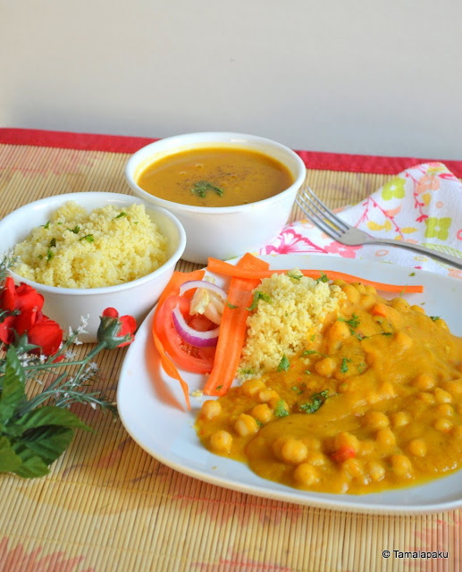 Pumpkin - Chickpea Stew With Couscous