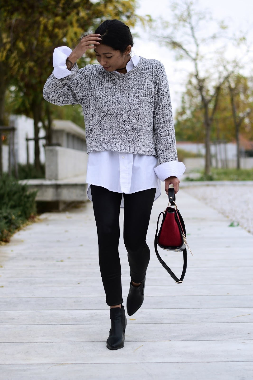 how to wear ankle boots with leggings k meets style