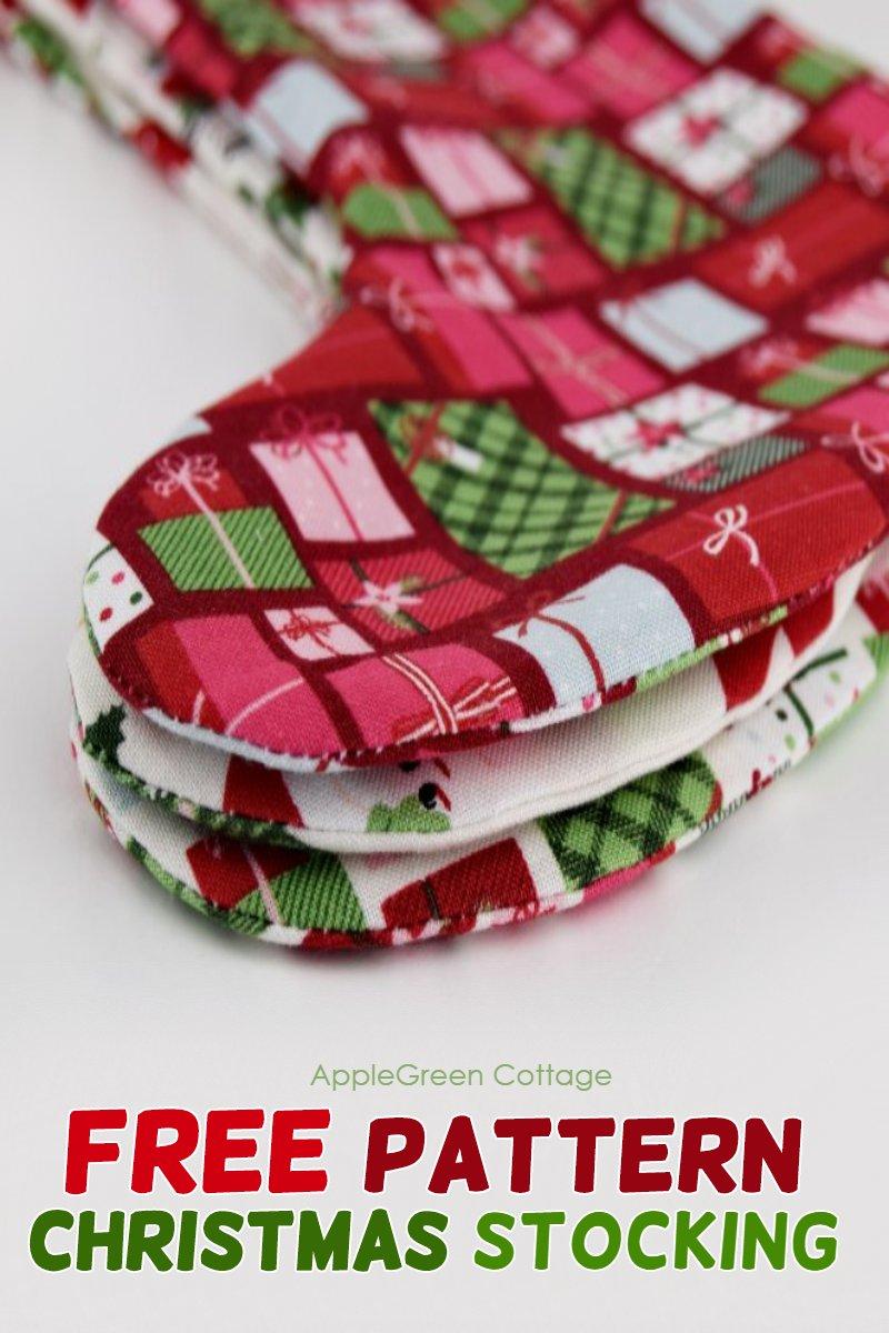 Christmas Stocking Pattern - Free Pattern - AppleGreen Cottage