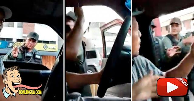Guardia Nacional ataca a un ciudadano y a una embarazada en la cola para la gasolina