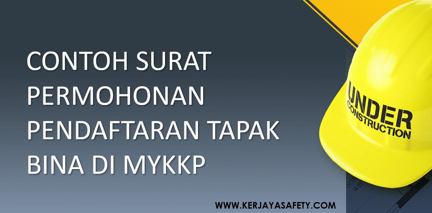 Contoh Surat Permohonan Pendaftaran Tapak Bina Di MyKKP