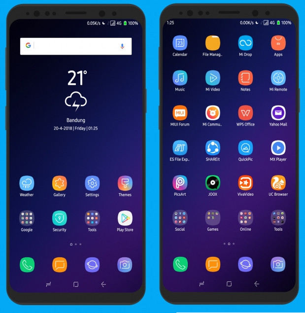 Pure SGS9+ MIUI 9 Theme (v1.4) - androidepic.com