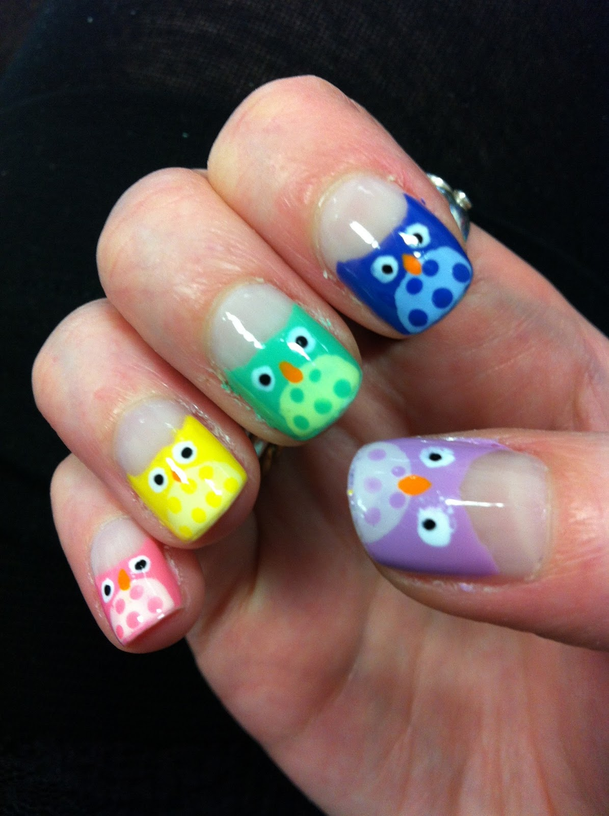 10 Awesome Owl Fingernail Designs For 2014