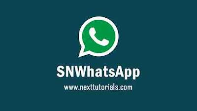 Download SNWhatsApp v2.0 Apk Mod Latest Version Android,Aplikasi SN WhatsApp v2.0 Terbaru 2020,snwa v2.0,tema whatsapp mod keren 2020,wa mod anti ban