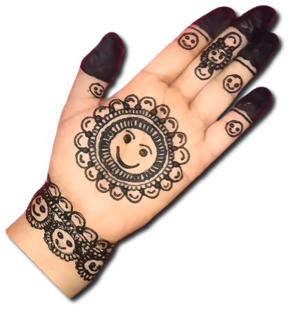 Happy Emoji Mehndi for Kids