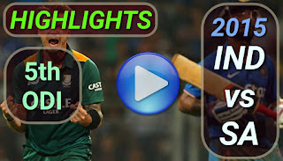 india vs south africa 5th odi 2015 highlights