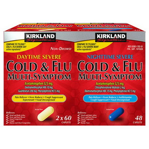 Viên Hạ Sốt Cảm Cúm Kirkland Cold Flu Multi Symptom Hàng Xách Tay Mỹ