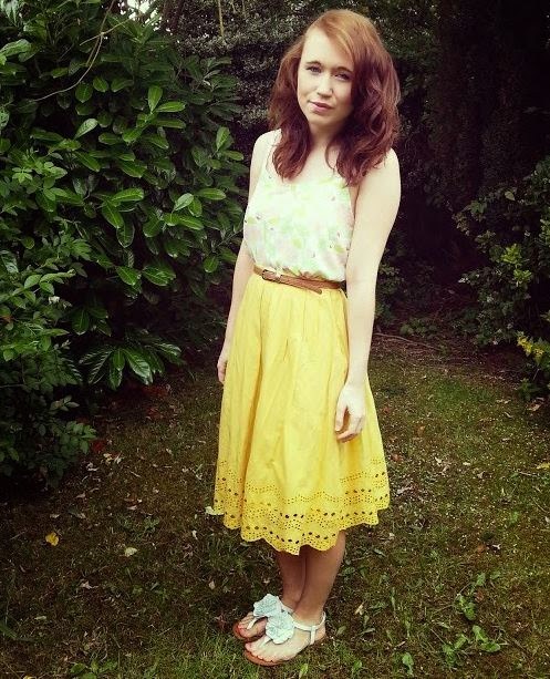 dorothy perkins yellow skirt