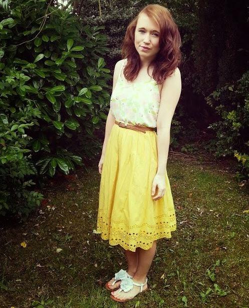 dorothy perkins yellow skirt