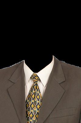 Contoh template gambar baju jas pria warna coklat png