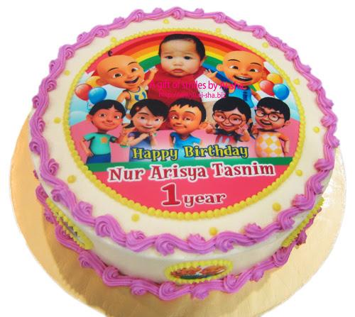 Edible Image Cake Upin Ipin Prezup for