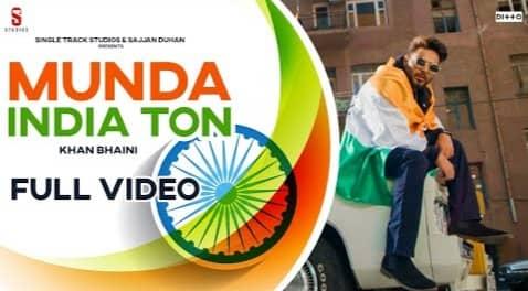 Munda India Ton Lyrics, khan Bhaini, Sycostyle