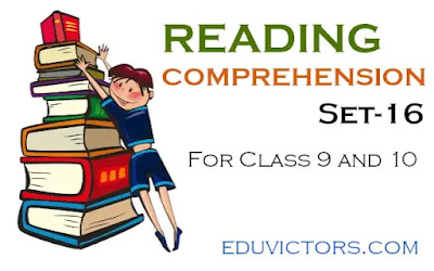 English Reading Comprehension (Set-16) - for Class 9 and 10 (#readingcomprehension)(#eduvictors)(#class10English)