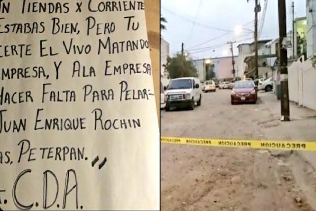 """Mataron a 3 y dejan Narcomensaje, Sicarios de El Cártel de Sinaloa cazan a """"El Peter Pan"""", por haberlos traicionado"""
