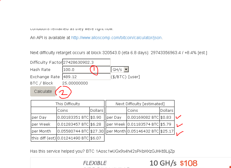 calculate mining difficulty