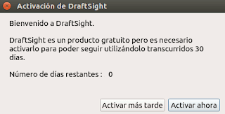 Activación de DraftSight