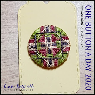 Day 323 : Lopsided - One Button a Day 2020 by Gina Barrett