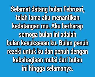 Kumpulan Kata Kata Bijak Ucapan Selamat Bulan Februari Terbaru