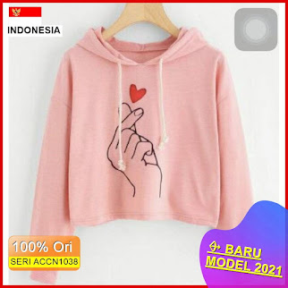 ACCN1038 SWEATER HODIE LOVE IN THE AIR REAL PICT BARU 2021