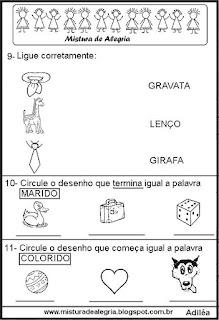 Avaliação de português 2º ano alfabetização