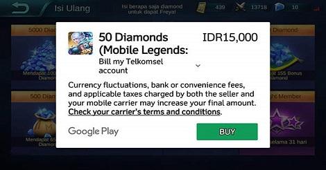 Cara Top Up Diamond Mobile Legend simple dan cepat