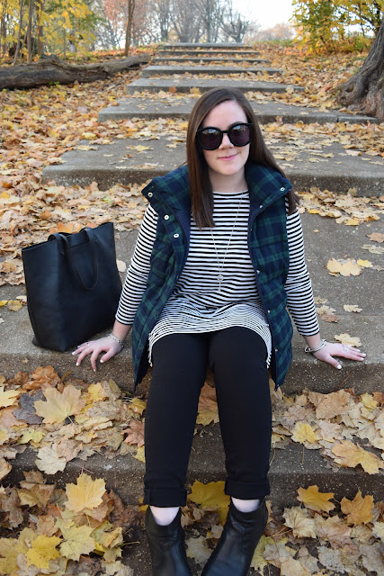 Sequins and Skulls: Stripes & Plaid