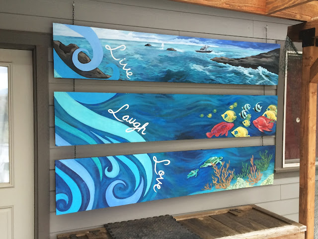 ocean mural, memorial mural, fish mural, portland muralist, portland mural artist