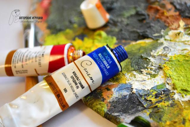 картина маслом, Абстракция маслом, масляные краски